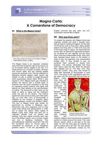 Vorschaugrafik 1 für das  Arbeitsblatt Magna Carta: A Cornerstone of Democracy von Lehrermaterial.de.