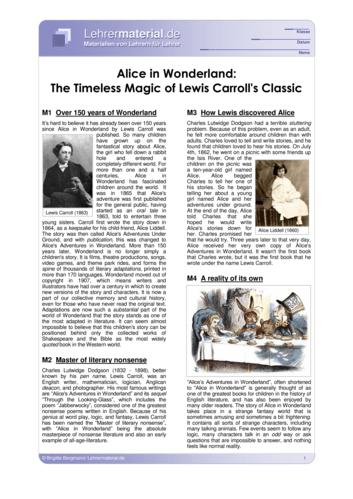 Vorschaugrafik für das  Arbeitsblatt Alice in Wonderland: The Timeless Magic of Lewis Carroll's Classic von Lehrermaterial.de