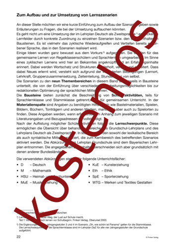 Vorschaugrafik 1 für das kostenlose Arbeitsblatt Lernszenarien (II) - Aufbau und Einleitung von Lehrermaterial.de.