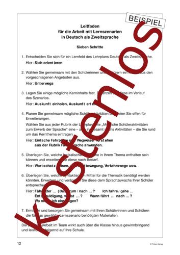 Vorschaugrafik 1 für das kostenlose Arbeitsblatt Lernszenarien (III) - Leitfaden von Lehrermaterial.de.