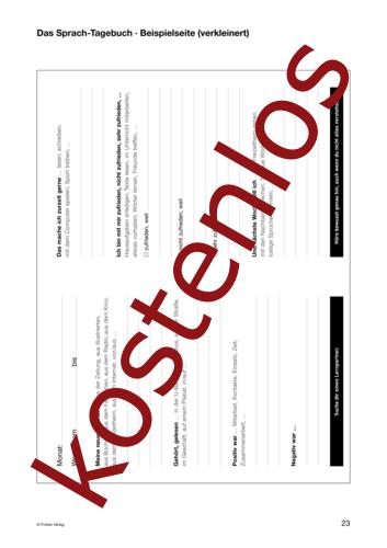 Vorschaugrafik 1 für das kostenlose Arbeitsblatt Lernszenarien (III) - Sprach-Tagebuch (Beispiel) von Lehrermaterial.de.