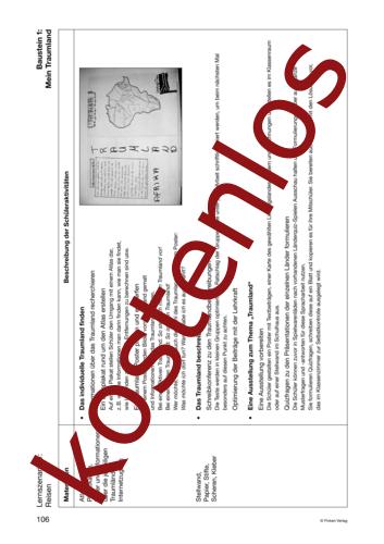 Vorschaugrafik 1 für das kostenlose Arbeitsblatt Lernszenarien (III) - Reisen (1) von Lehrermaterial.de.