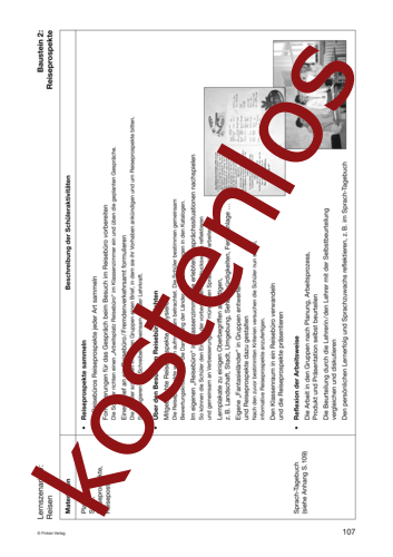 Vorschaugrafik 1 für das kostenlose Arbeitsblatt Lernszenarien (III) - Reisen (2) von Lehrermaterial.de.