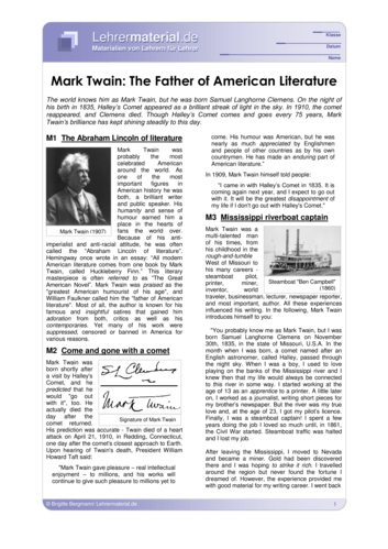 Vorschaugrafik für das  Arbeitsblatt Mark Twain: The Father of American Literature von Lehrermaterial.de