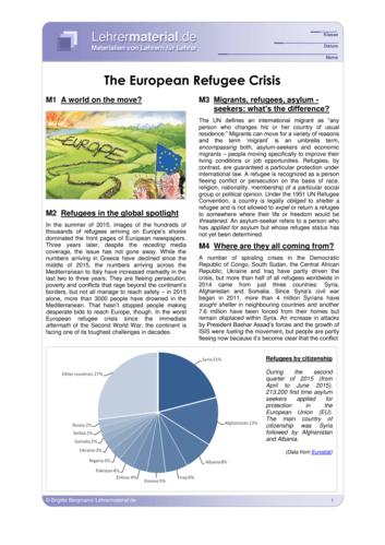 Vorschaugrafik für das  Arbeitsblatt The European Refugee Crisis von Lehrermaterial.de