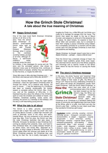 Vorschaugrafik für das  Arbeitsblatt How the Grinch Stole Christmas! von Lehrermaterial.de