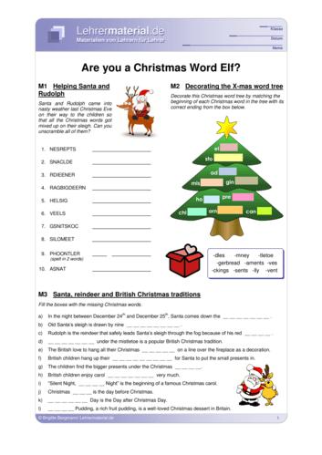 Vorschaugrafik für das  Arbeitsblatt Are you a Christmas Word Elf? von Lehrermaterial.de