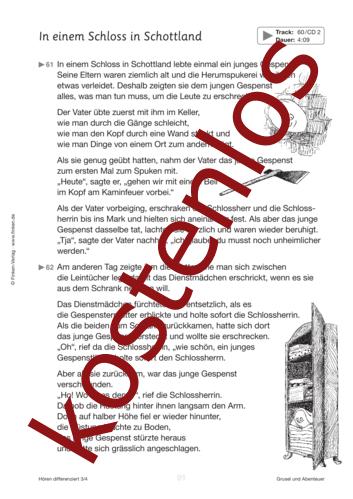 Vorschaugrafik 1 für das kostenlose Arbeitsblatt Hören differenziert: Das Schloss in Schottland von Lehrermaterial.de.