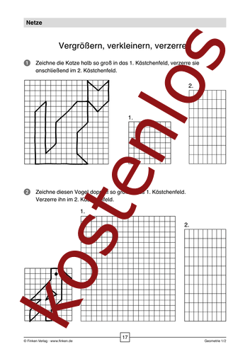 Vorschaugrafik 1 für das kostenlose Arbeitsblatt Vergrößern, verkleinern, verzerren von Lehrermaterial.de.
