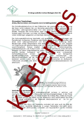Vorschaugrafik für das kostenlose Arbeitsblatt Die Teepflanze (Sek.II) von Lehrermaterial.de