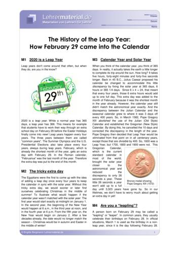 Vorschaugrafik 1 für das  Arbeitsblatt The History of the Leap Year von Lehrermaterial.de.