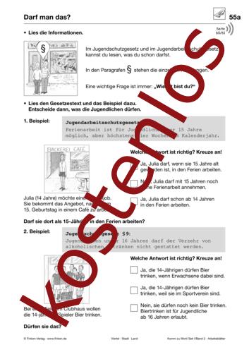 Vorschaugrafik 1 für das kostenlose Arbeitsblatt Komm zu Wort: Darf man das? von Lehrermaterial.de.