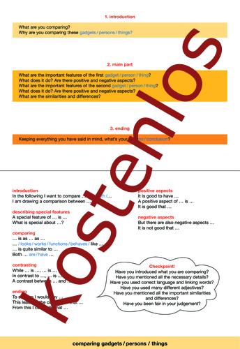 Vorschaugrafik 1 für das kostenlose Arbeitsblatt SMART text trainer advanced - Comparing von Lehrermaterial.de.