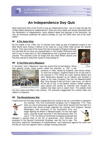 Vorschaugrafik für das  Arbeitsblatt An Independence Day Quiz von Lehrermaterial.de