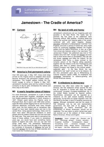 Vorschaugrafik für das  Arbeitsblatt Jamestown - The Cradle of America? von Lehrermaterial.de