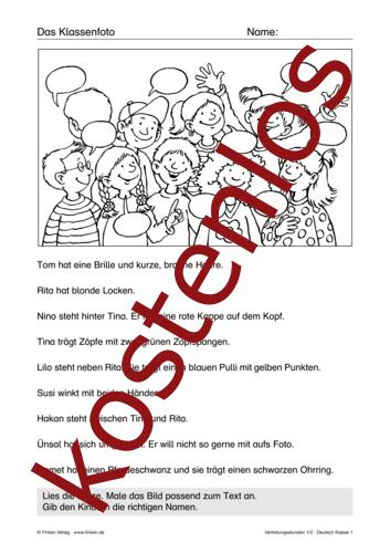 Vorschaugrafik 1 für das kostenlose Arbeitsblatt Vertretungsstunden (I) von Lehrermaterial.de.