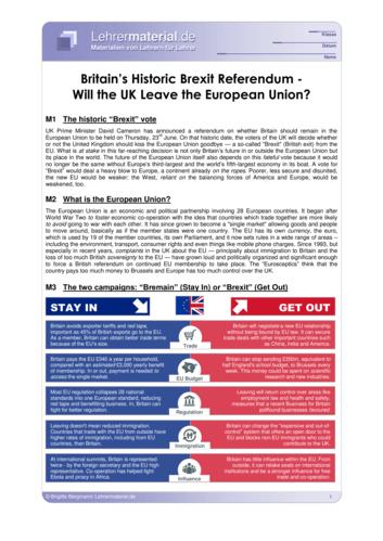 Vorschaugrafik 1 für das  Arbeitsblatt Britain`s Historic Brexit Referendum von Lehrermaterial.de.