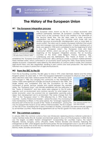 Detailseite für das  Arbeitsblatt The History of the European Union öffnen