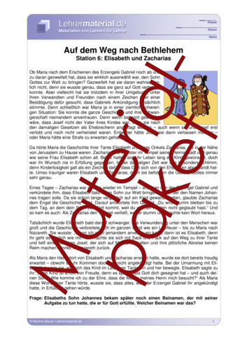 Vorschaugrafik 1 für das  Arbeitsblatt Auf dem Weg nach Bethlehem - Wochenpaket 2 von Lehrermaterial.de.