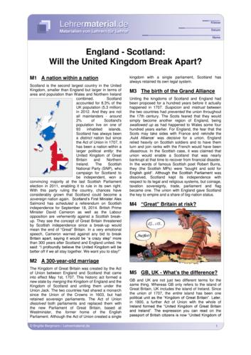 Vorschaugrafik 1 für das  Arbeitsblatt England - Scotland: Will the United Kingdom Break Apart? von Lehrermaterial.de.