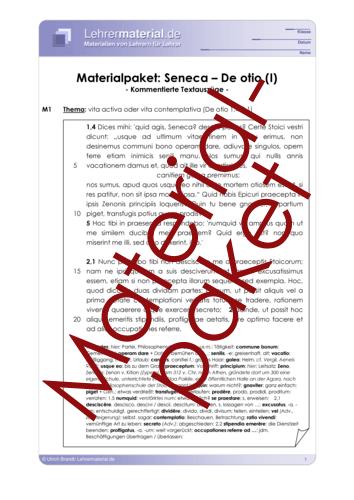 Vorschaugrafik 1 für das  Arbeitsblatt Seneca - De otio (Materialpaket) von Lehrermaterial.de.