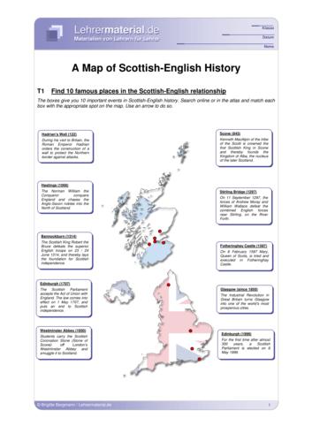Vorschaugrafik 1 für das  Arbeitsblatt A Map of Scottish-English History von Lehrermaterial.de.