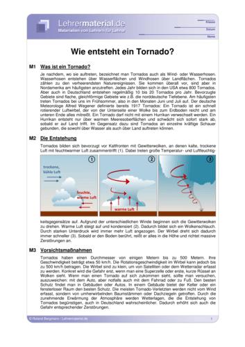 Vorschaugrafik für das  Arbeitsblatt Wie entsteht ein Tornado? von Lehrermaterial.de