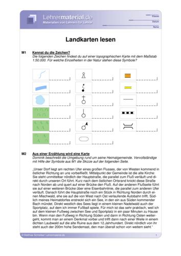 Vorschaugrafik für das  Arbeitsblatt Landkarten lesen von Lehrermaterial.de