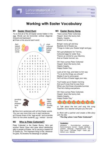 Vorschaugrafik 1 für das  Arbeitsblatt Working with Easter Vocabulary von Lehrermaterial.de.
