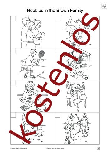 Vorschaugrafik 1 für das kostenlose Arbeitsblatt Little Early Bird - Hobbies in the Brown Family (II) von Lehrermaterial.de.
