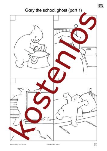 Vorschaugrafik 1 für das kostenlose Arbeitsblatt Little Early Bird - Gary the school ghost (II) von Lehrermaterial.de.