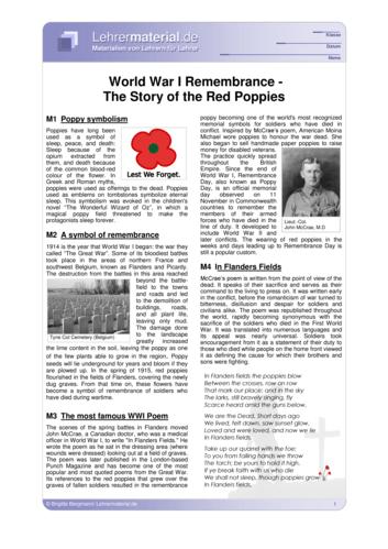 Vorschaugrafik 1 für das  Arbeitsblatt World War I Remembrance - The Story of the Red Poppies von Lehrermaterial.de.