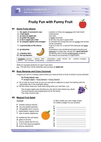 Vorschaugrafik 1 für das  Arbeitsblatt Fruity Fun with Funny Fruit  von Lehrermaterial.de.
