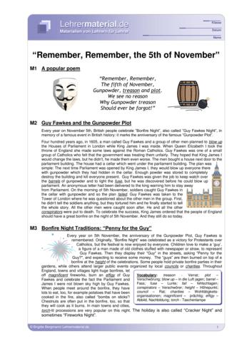 Vorschaugrafik 1 für das  Arbeitsblatt Remember, Remember, the 5th of November von Lehrermaterial.de.