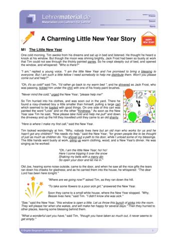 Vorschaugrafik 1 für das  Arbeitsblatt A Charming Little New Year Story von Lehrermaterial.de.