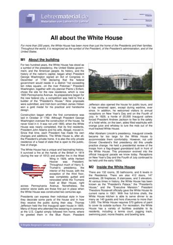 Vorschaugrafik 1 für das  Arbeitsblatt All about the White House von Lehrermaterial.de.