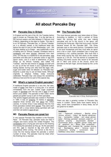 Vorschaugrafik 1 für das  Arbeitsblatt All about Pancake Day von Lehrermaterial.de.
