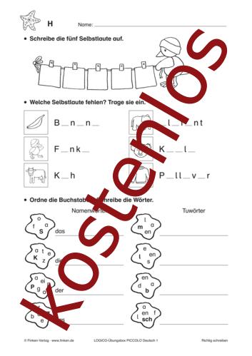 Vorschaugrafik 1 für das kostenlose Arbeitsblatt LOGICO-Box: Richtig schreiben von Lehrermaterial.de.