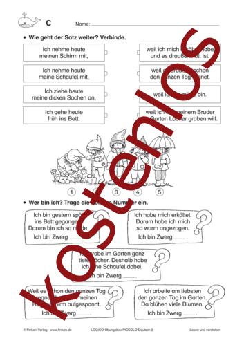 Vorschaugrafik 1 für das kostenlose Arbeitsblatt LOGICO-Box: Lesen und verstehen von Lehrermaterial.de.