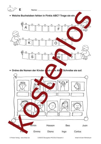 Vorschaugrafik 1 für das kostenlose Arbeitsblatt LOGICO-Box: Wörterbuch von Lehrermaterial.de.