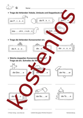 Vorschaugrafik 1 für das kostenlose Arbeitsblatt LOGICO-Box: Rechtschreibung von Lehrermaterial.de.