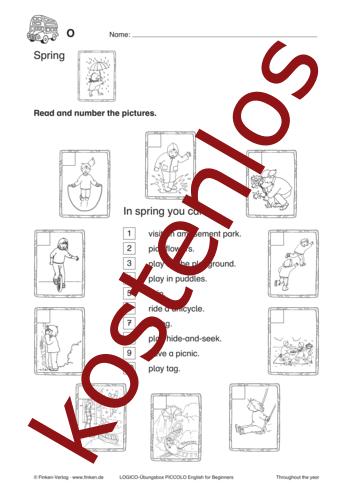 Vorschaugrafik 1 für das kostenlose Arbeitsblatt LOGICO-Box: Spring von Lehrermaterial.de.
