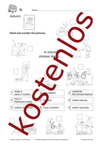 Vorschaugrafik 1 für das kostenlose Arbeitsblatt LOGICO-Box: Autumn von Lehrermaterial.de.