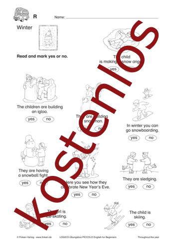 Vorschaugrafik 1 für das kostenlose Arbeitsblatt LOGICO-Box: Winter von Lehrermaterial.de.