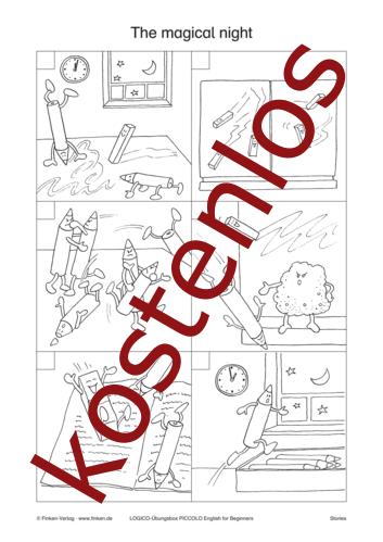 Vorschaugrafik 1 für das kostenlose Arbeitsblatt LOGICO-Box: The magical night von Lehrermaterial.de.