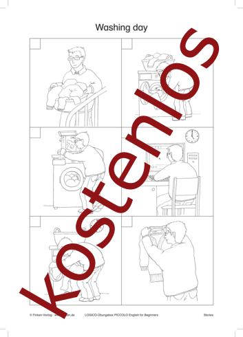 Vorschaugrafik 1 für das kostenlose Arbeitsblatt LOGICO-Box: Washing day von Lehrermaterial.de.