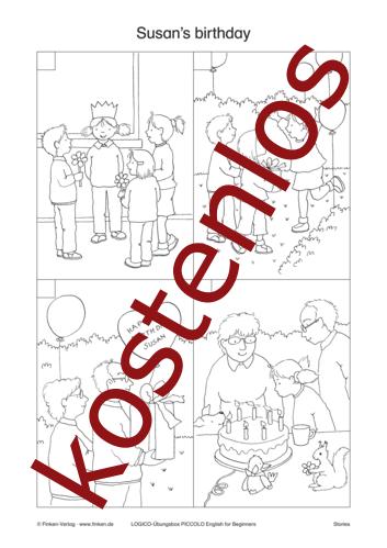 Vorschaugrafik 1 für das kostenlose Arbeitsblatt LOGICO-Box: Susan's birthday von Lehrermaterial.de.