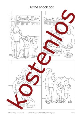 Vorschaugrafik 1 für das kostenlose Arbeitsblatt LOGICO-Box: At the snack bar von Lehrermaterial.de.