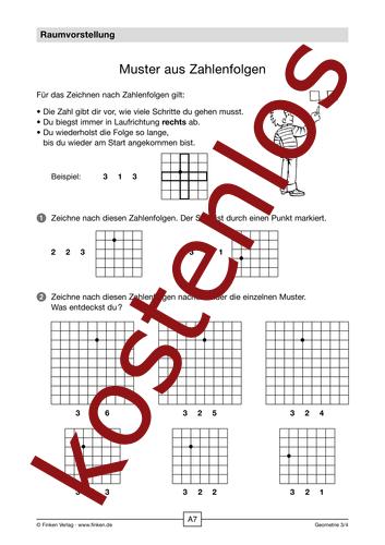 Vorschaugrafik 1 für das kostenlose Arbeitsblatt Muster aus Zahlenfolgen von Lehrermaterial.de.