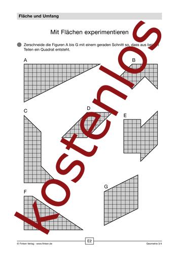 Vorschaugrafik 1 für das kostenlose Arbeitsblatt Mit Flächen experimentieren von Lehrermaterial.de.